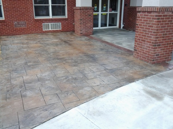 Stamped Concrete Projects Restuccia Excavating