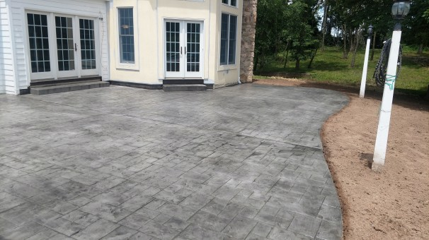 Restuccia Excavating stamped concrete