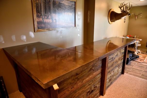 Restuccia Excavating Inc Concrete Counter Top Bar Acid Stain